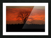 Wisconsin November Sunset Wood County Picture Frame print