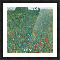 Poppy Field by Klimt Picture Frame print