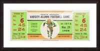 1958 Oklahoma Sooners Varsity Alumni Game Picture Frame print