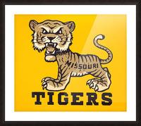 1950s Missouri Tigers Art Print Picture Frame print