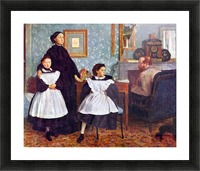 Portait of the Bellelli family by Degas Picture Frame print