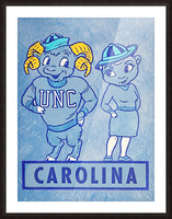 1950s Carolina Couple Picture Frame print
