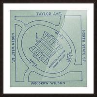1956 Memorial Stadium Map Jackson MS Picture Frame print