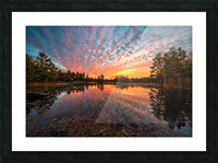 Mountain Rd Pond Picture Frame print