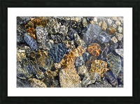 River Rocks Picture Frame print