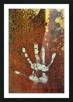 Rusty Door Hand Print Picture Frame print