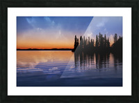 Lake Sunset Picture Frame print