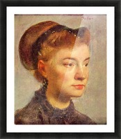 Portrait of a young Lady by Degas Picture Frame print