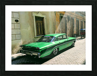 Cuba Past and Present Picture Frame print
