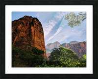 Zion Catching Rays Picture Frame print