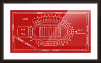 1937 Camp Randall Stadium Map Picture Frame print