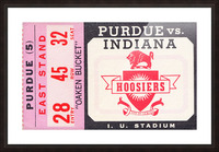Vintage Indiana Hoosiers Football Ticket Stub Picture Frame print