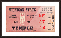 1942 Michigan State vs. Temple Picture Frame print