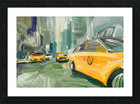 Yellow Cabs  Picture Frame print