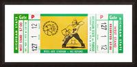 1975 Michigan State vs. Purdue Picture Frame print