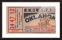 1951 Oklahoma vs. Colorado Picture Frame print