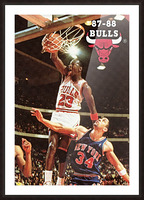 1987 Chicago Bulls Michael Jordan Art Picture Frame print