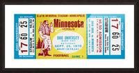 1970 Minnesota vs. Ohio Picture Frame print