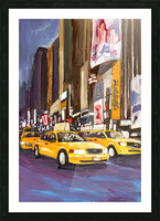 Cabs at Night Picture Frame print
