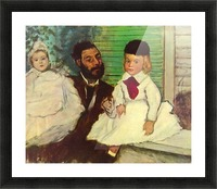 Portrait of Count Lepic and his daughters by Degas Picture Frame print