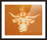 1950s Texas Longhorn Art Picture Frame print
