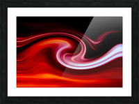 FIRE WAVE Picture Frame print