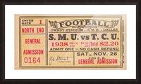 1938 TCU vs. SMU Picture Frame print