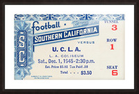 1945 USC vs. UCLA Game 2 Picture Frame print
