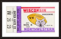 1958 Wisconsin vs. Northwestern Picture Frame print