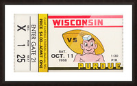 1958 Wisconsin vs. Purdue Picture Frame print