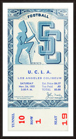 1951 USC vs. UCLA Picture Frame print