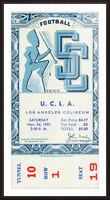1951 USC vs. UCLA Picture Frame print