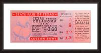 1948 Oklahoma vs. Texas Picture Frame print