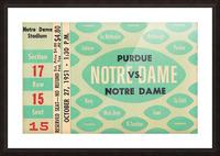 1951 Notre Dame vs. Purdue Picture Frame print