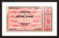 1933 Notre Dame vs. Purdue Picture Frame print
