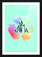 karma Picture Frame print