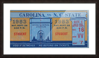 1953 North Carolina vs. NC State Picture Frame print