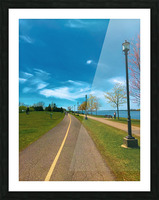 Cycling path Picture Frame print