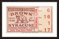 1930 Syracuse vs. Brown Picture Frame print