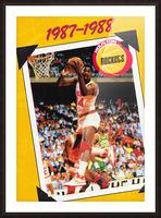 1987 Hakeem Olajuwon Houston Rockets Picture Frame print