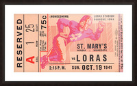 1941 St. Marys vs. Loras Picture Frame print