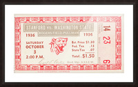 1936 Washington State vs. Stanford Picture Frame print