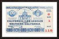1940 USC vs. UCLA Picture Frame print