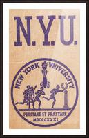 1950s NYU Art Picture Frame print