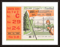 1959 Mississippi vs. Tennessee Picture Frame print