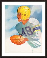 1948 Lon Keller Football Art Picture Frame print