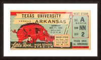 1942 Arkansas vs. Texas Picture Frame print