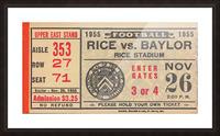 1955 Rice vs. Baylor Picture Frame print