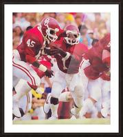 1984 Danny Bradley Oklahoma Sooners Picture Frame print