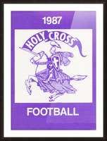 1987 Holy Cross Football Picture Frame print
